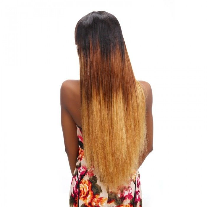 "12"" - 30"" Three Tone Ombre Human Hair Extensions / Brazilian Straight Hair Bundles"